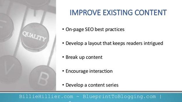Improve Existing Contents