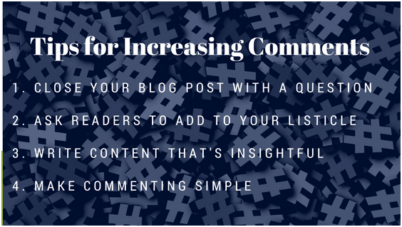Actively ask for the comments on blog