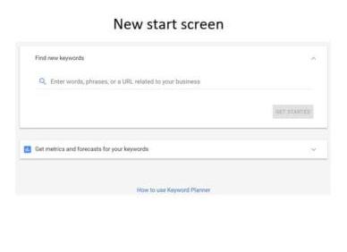 New Start Screen