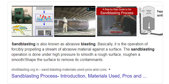Example Featured Snippet with Photo