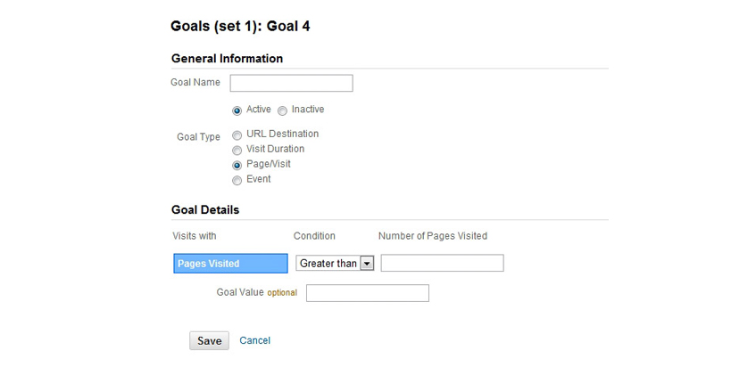 Measure your PPC efforts by creating Goals in Analytics